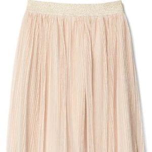 Gap girls soft pink tulle pleated midi skirt